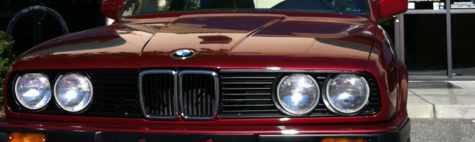 BMW view of the front closeup